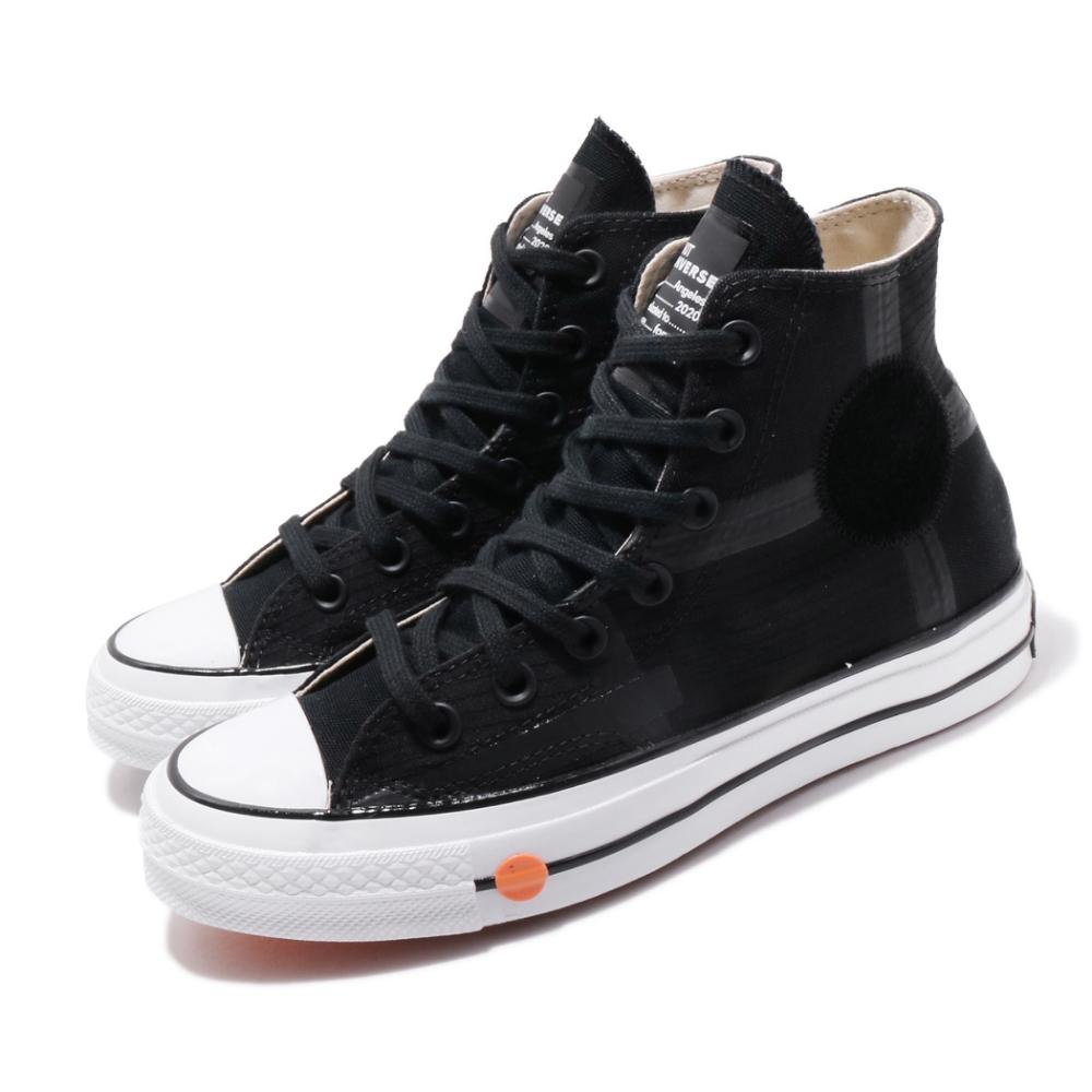 Converse 休閒鞋 ROKIT Chuck 70 聯名 男女鞋 拼接 高筒帆布 三星黑標 情侶鞋 黑 橘 168211C