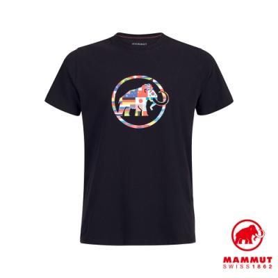 【Mammut 長毛象】Nations T-Shirt Men 世界LOGO短袖上衣 男款 黑色 #1017-02220