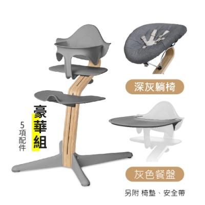丹麥nomi 多階段兒童成長學習調節椅-豪華組-灰色(5項配件)