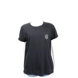 KARL LAGERFELD K/CITY Logo標誌黑色棉質T恤
