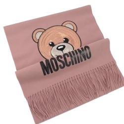 亮片小熊圖樣羊毛圍巾