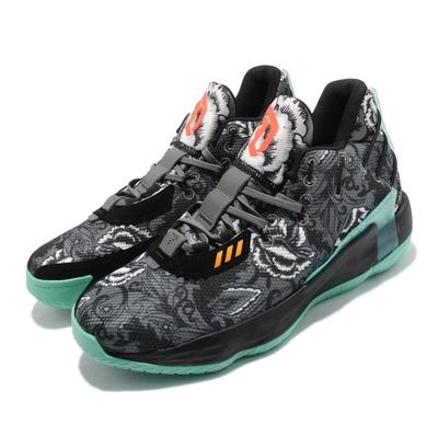 adidas 籃球鞋 Dame 7 GCA 運動 男鞋 愛迪達 避震 包覆 支撐 球鞋 穿搭 黑 綠 FX7446