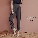 東京著衣-KODZ 顯瘦第一名褲管反褶設計老爺西裝褲-S.M.L(共二色)