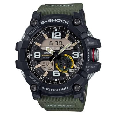 G-SHOCK 全方位防塵泥雙傳感器休閒運動錶(GG-1000-1A3)帆布綠/55.3mm