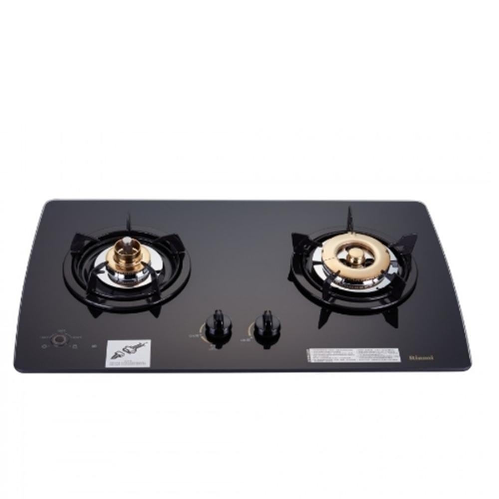 (全省安裝)林內美食家雙面檯面爐黑色與白色瓦斯爐天然氣RB-2GMB_NG1