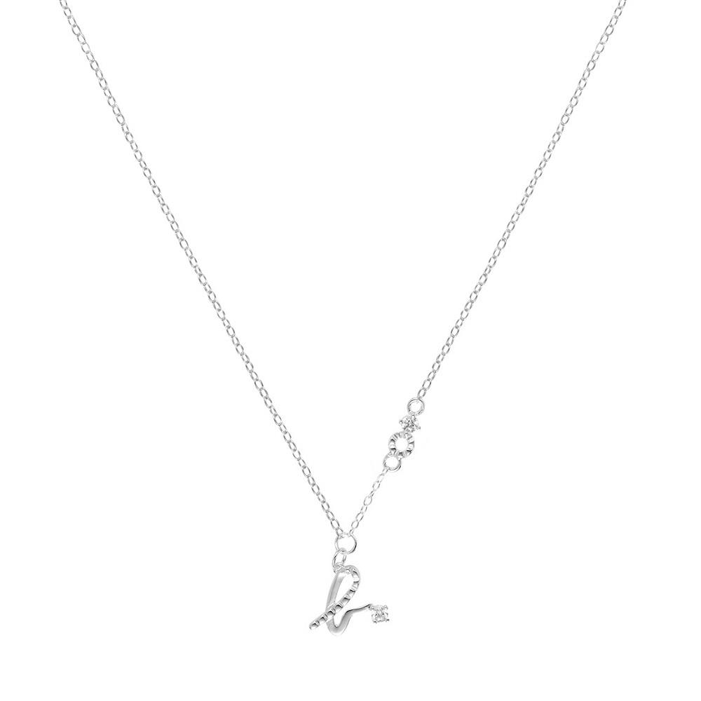 agnes b. b logo純銀項鍊