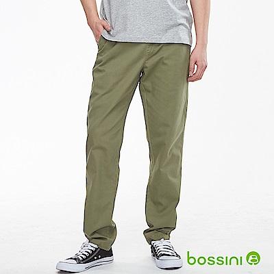 bossini男裝-輕鬆長褲01軍綠