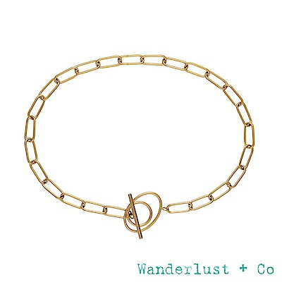 Wanderlust+Co INFUSION系列 環環相扣個性鍍18K金風格頸鍊