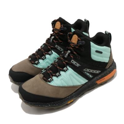 Merrell 戶外鞋 Zion Waterproof 運動 女鞋 登山 越野 耐磨黃金大底 中筒 抗菌防臭 黑 綠 ML500080