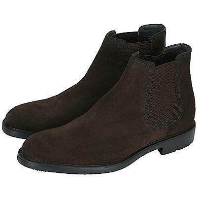 MORESCHI 麂皮拼接切爾西短靴(男鞋/咖啡色)