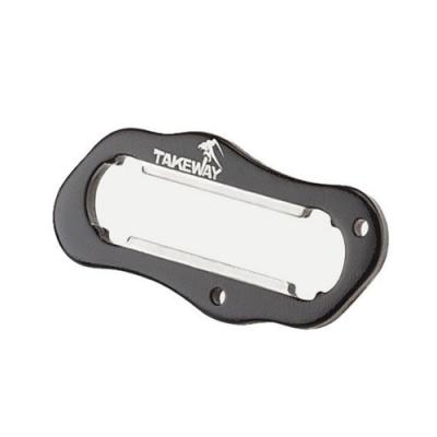 台灣製TAKEWAY極限運動夾和黑隼Z手機座LA3系列用防盜手把T-H03黑色(附鑰匙圈)適LA3-PH05和HAWK1