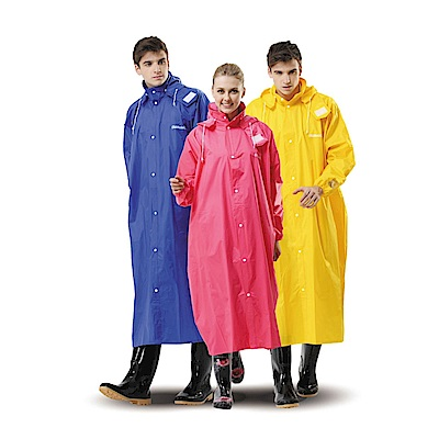 金德恩 達新馳 尼龍耐水性高防風全開披肩雨衣 XL-4XL 五色可選