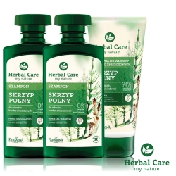 波蘭Herbal Care 馬尾草維護滋養洗護髮3入組(馬尾草洗髮x2+馬尾草護髮x1)