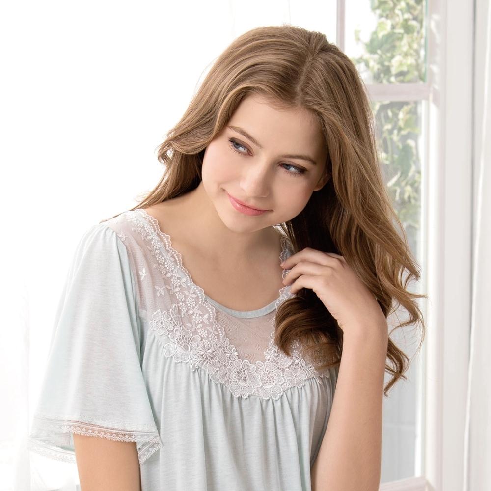 RoseMaid 羅絲美 - 微風輕撫短袖褲裝睡衣(湖水綠) (湖水綠)