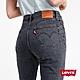 Levis 女款 501Crop高腰排釦合身直筒牛仔長褲 黑灰基本款 彈性布料 product thumbnail 2