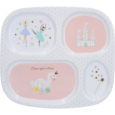 《CreativeTops》四格兒童餐盤(粉色童話)