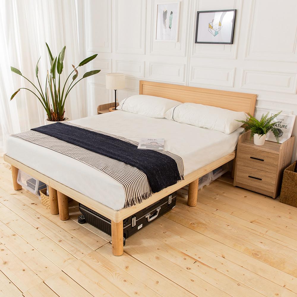 時尚屋 佐野5尺床片型3件房間組-床片+高腳床+床頭櫃2個(不含床墊)