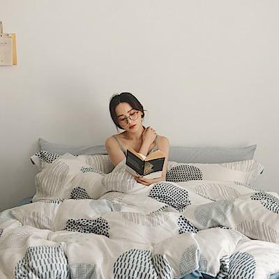 翔仔居家 台灣製 100%天絲薄被套&床包4件組-小步舞曲 (加大)