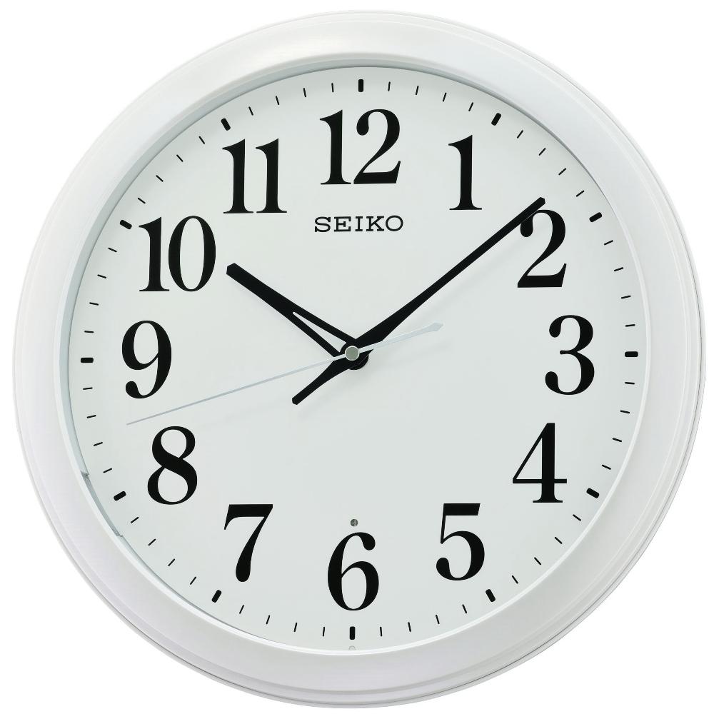 SEIKO 日本精工 滑動式秒針 靜音 掛鐘(QXA776W)白框/33cm