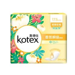 靠得住暖心香氛梔子花 瞬吸護墊17.5cm 24片x8包