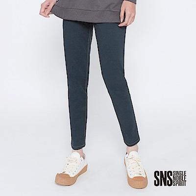 SNS 叛逆因子配色縫線口袋直筒褲(2色)