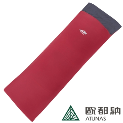 【ATUNAS 歐都納 】LIGHT 550科技纖維信封式輕量睡袋A1SBAA01N紅