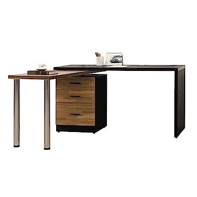 文創集 皮斯德4.9尺多功能伸縮書桌(多面向&伸縮機能設計)145.5x60x78cm免組