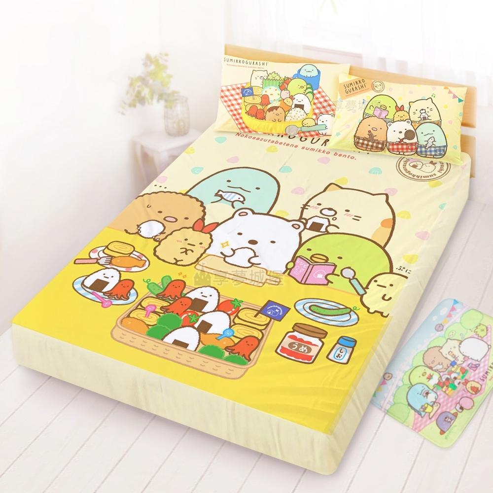 享夢城堡 雙人床包枕套組5x6.2三件組-角落小夥伴 小廚神-米黃