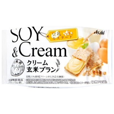 Asahi 玄米豆乳卡士達風味餅(72g)