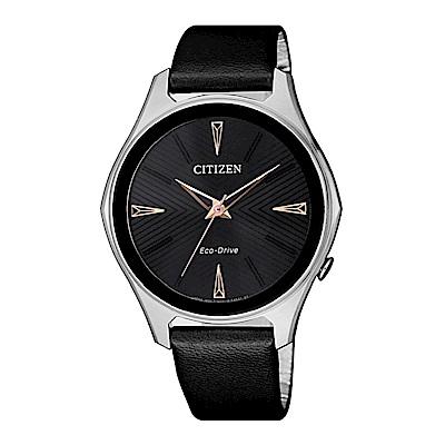 CITIZEN LADYS優雅俐落光動能時尚腕錶(EM0599-17E)