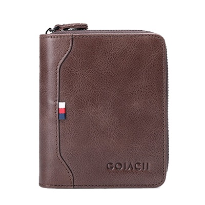 玩皮工坊-真皮牛皮復古16卡位男士皮夾皮包錢包中夾男夾-LH190