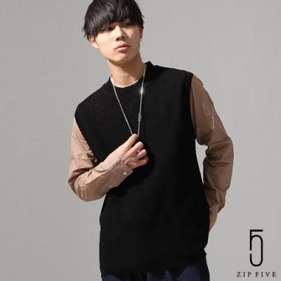 ZIP日本男裝 ZIP FIVE針織背心(5色)