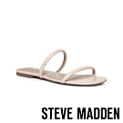 STEVE MADDEN-BRAYDEN 簡約雙細帶平底拖鞋-粉藕色