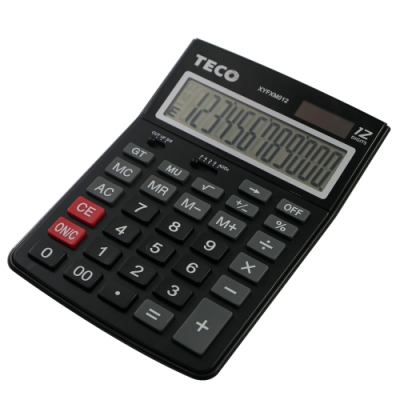 TECO東元桌上型12位元計算機 XYFXM012 (黑色)