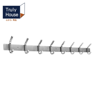 Truly House 304不鏽鋼八排掛勾 置物架 廚房 浴室