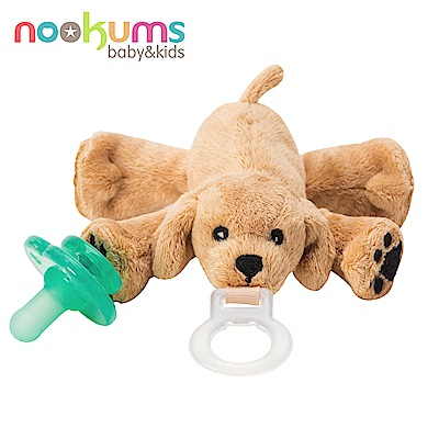 美國 nookums 寶寶可愛造型安撫奶嘴/玩偶-可愛小狗狗