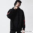寬版內刷毛套頭連帽TEE(16色) ZIP日本男裝