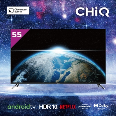 CHIQ 55吋 4K連網液晶顯示器+視訊盒 CQ-55AFM7G (Google TV)