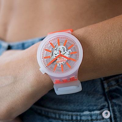 Swatch BIG BOLD系列手錶 ORANGINJELLY 暖心橘-47mm