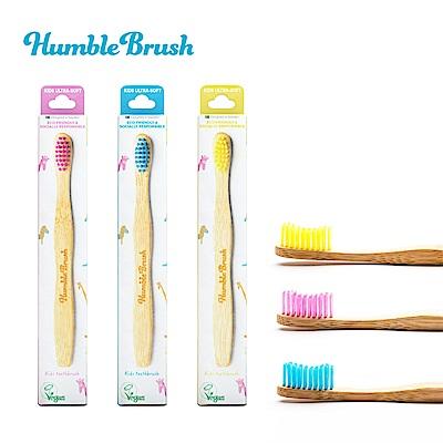 瑞典Humble Brush 兒童牙刷超軟毛 2入組-三色可選