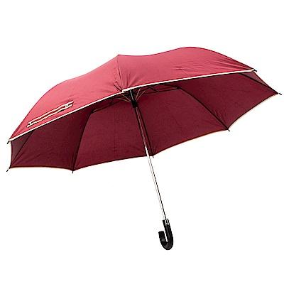 樂嫚妮 超大自動開折四人用彎把雨傘/分享傘/145cm傘面-紅