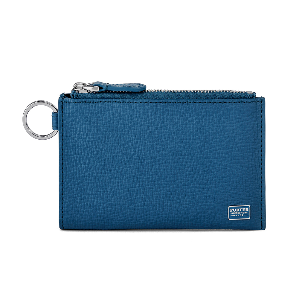 PORTER - 自信魅力REGAL鑰匙掛環真皮零錢包 - 藍