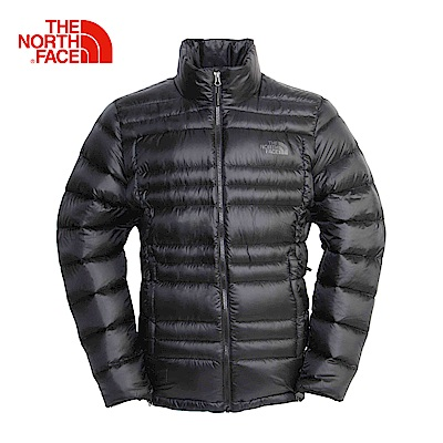 The North Face北面男款黑色保暖防潑水羽絨外套