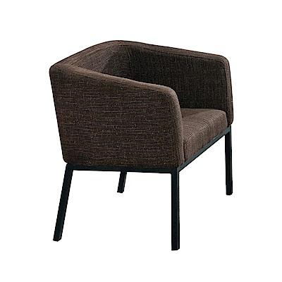 文創集 波蘭德時尚棉麻布單人座沙發椅-69.5x58x73cm免組