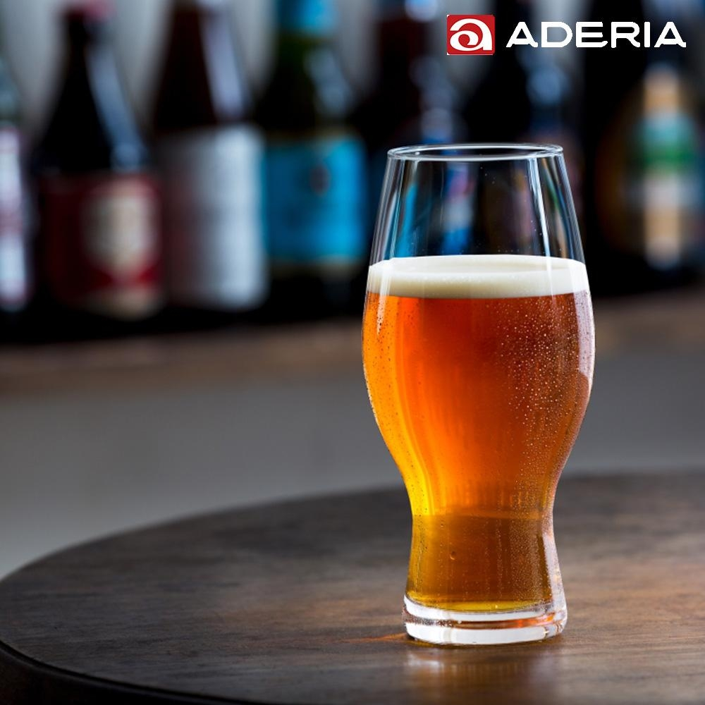ADERIA 日本進口時尚玻璃啤酒杯568ml