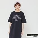 H:CONNECT 韓國品牌 女裝-休閒文字連身洋裝-藍(快)