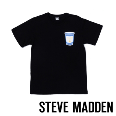 STEVE MADDEN-造型藍色泡麵杯 時尚品牌T-Shirt-黑色