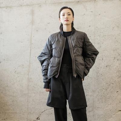 設計所在Style-個性尖角袖造型中性加厚羽絨服外套