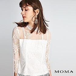 MOMA 蕾絲透膚上衣