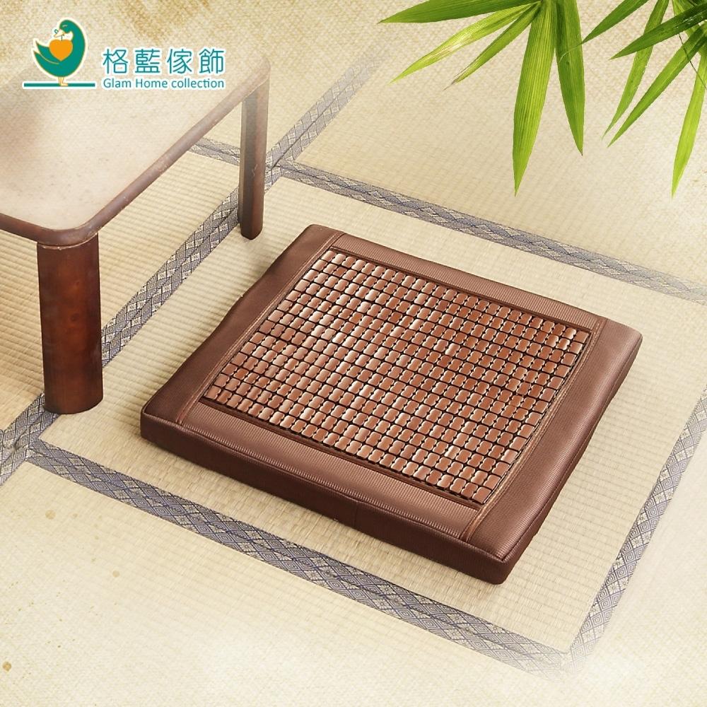 【格藍傢飾】雅逸4入碳化麻將竹立體坐墊55x55x5(涼墊 竹墊 降溫 省電)